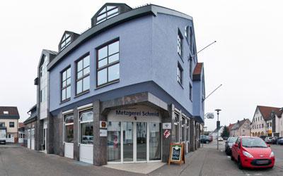 Das Metzgerei Gebäude der Metzgerei Schmid in Pfuhl